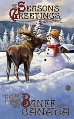 Banff National Park/Moose And Snowman Poster • PAL-2518
