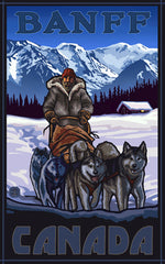 Banff National Park/Sled Dog Team Poster • PAL-2520