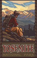 Yosemite National Park / Sitting Hiker Poster • PAL-2584