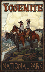 Yosemite National Park/2 Cowboys On Horses Poster • PAL-2588