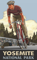 Yosemite National Park / Retro Biker Poster • PAL-2589