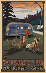 Yosemite National Park / Vacation With Camper Trailer Poster • PAL-2590