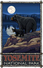 Yosemite National Park/2 Black Bears Alternate Poster • PAL-2592