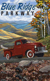 Blue Ridge Parkway / Red Truck Poster • PAL-2688
