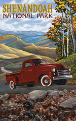 Shenandoah National Park/Red Truck On Hill Poster • PAL-2693