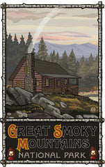 Great Smoky Mountains National Park / Log Cabin (Alternate) Poster • PAL-2711