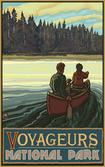 Voyageurs National Park/Canoe Man And Woman Poster • PAL-2865