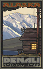 Denali National Park / Cabin Poster • PAL-3027
