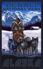 Denali National Park / Sled Dog Team Poster • PAL-3028