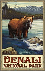 Denali National Park / Bear With Fish 2 • PAL-3035