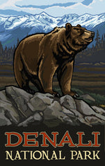 Denali National Park / Majestic Brown Bear Poster • PAL-3051