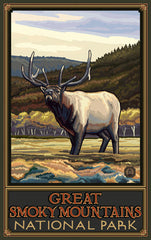 Great Smoky Mountains National Park / Majestic Elk (Alternate) Poster • PAL-3140