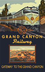 Grand Canyon National Park / Diesel Train Poster • PAL-3671