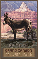 Grand Canyon National Park / Brighty Donkey Poster • PAL-0379