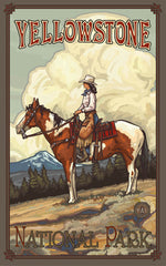 Yellowstone National Park/Cowgirl Poster • PAL-0386