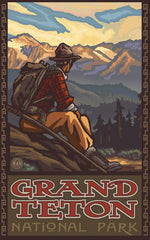 Grand Teton National Park / Resting Hiker Poster • PAL-0427