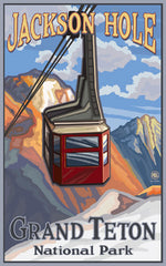 Grand Teton National Park / Jackson Hole Tram Poster • PAL-0048