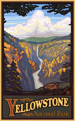 Yellowstone National Park/ Falls Poster • PAL-0052