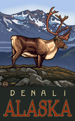 Denali National Park / Majestic Elk Poster • PAL-0578