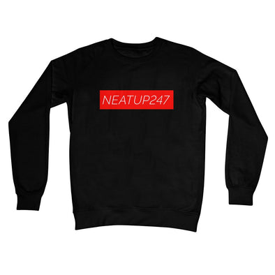 Crew Neck Sweatshirt | Black XL, 2XL