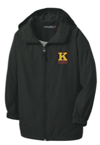 King Intermediate * * * New Item * * * Black Zip Windbreaker Jacket JST73