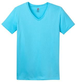 KAPUNAHALA STAFF - Hanes Ladies Comfort Soft V-Neck T-Shirt - 5780