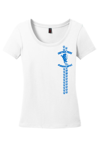 Aliamanu Middle Staff - Ladies Scoop-Neck Tee (DM106L) Design #2