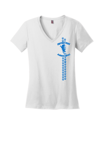 Aliamanu Middle Staff - Ladies V-Neck Tee (DM1170L) Design #2