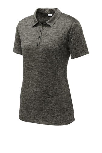 *New Wahine Sport-Tek® PosiCharge® Electric Heather Polo Embroidered
