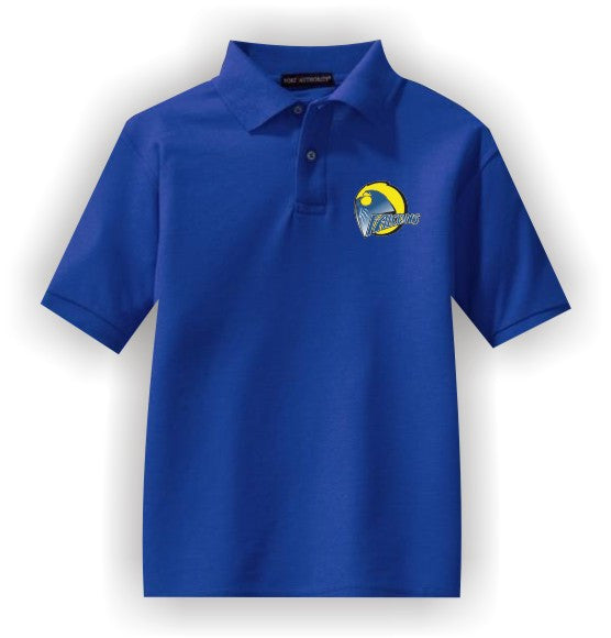 Aliamanu Elementary School - Embroidered Polo Shirt - Royal Blue
