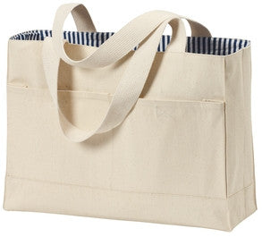 Kaiulani Elementary School Staff Port & Company - B450 Double Pocket Tote