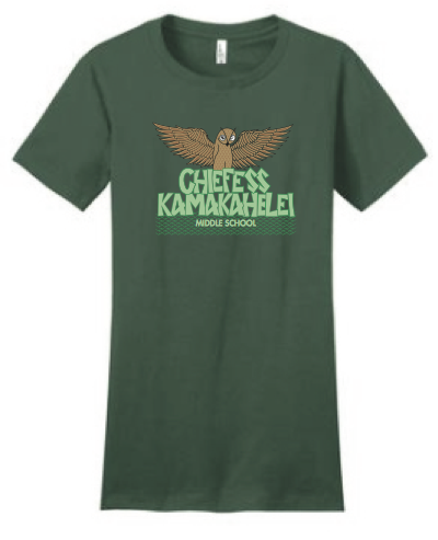Chiefess Kamakahelei Middle School - 7th Grade Uniform - Wahine Crew Neck