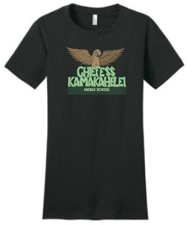 Chiefess Kamakahelei Middle School - 8th Grade Uniform - Wahine Crew Neck