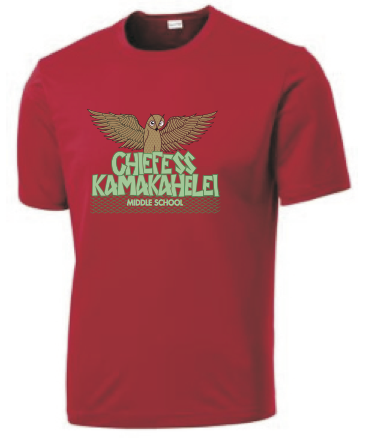 Chiefess Kamakahelei Middle School - 6th Grade Uniform - Dri-Fit Performance Shirt