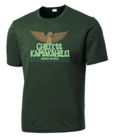 Chiefess Kamakahelei Middle School - 7th Grade Uniform - Dri-Fit Performance Shirt