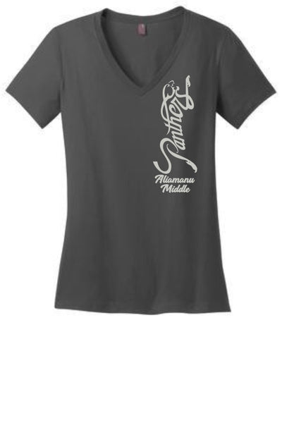 Aliamanu Middle School Staff - Ladies Perfect Weight V-Neck Tee - DM1170L