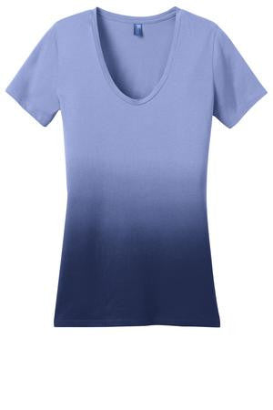 *** KAPUNAHALA STAFF - District Made® - Ladies Dip Dye Rounded Deep V-Neck Tee. DM4310
