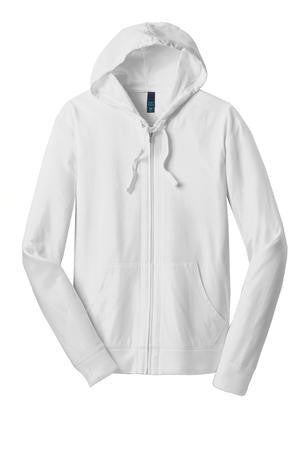 ***Kapunahala Staff*** District® Young Mens Jersey Full-Zip Hoodie (DT1100)