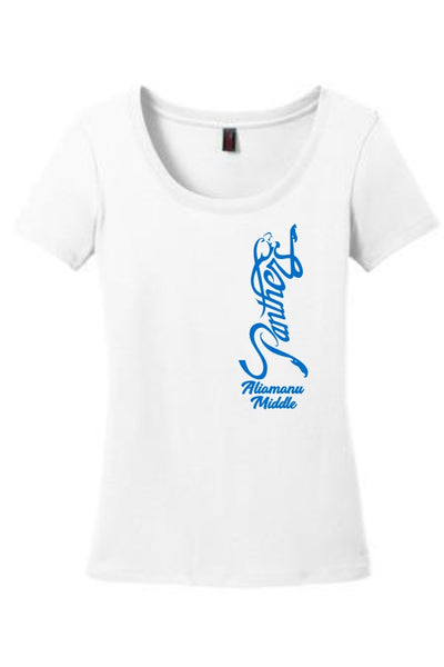 Aliamanu Middle School Staff - District Made Ladies Perfect Weight Scoop Tee - DM106L