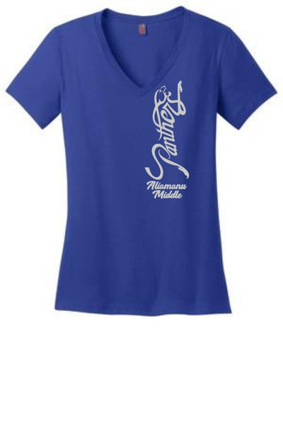 Aliamanu Middle Staff - Ladies V-Neck Tee (DM1170L)