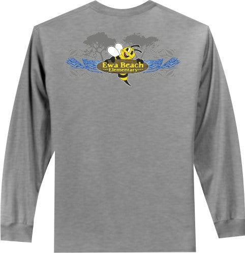 Ewa Beach Elementary School - Long Sleeve - Athletic Heather