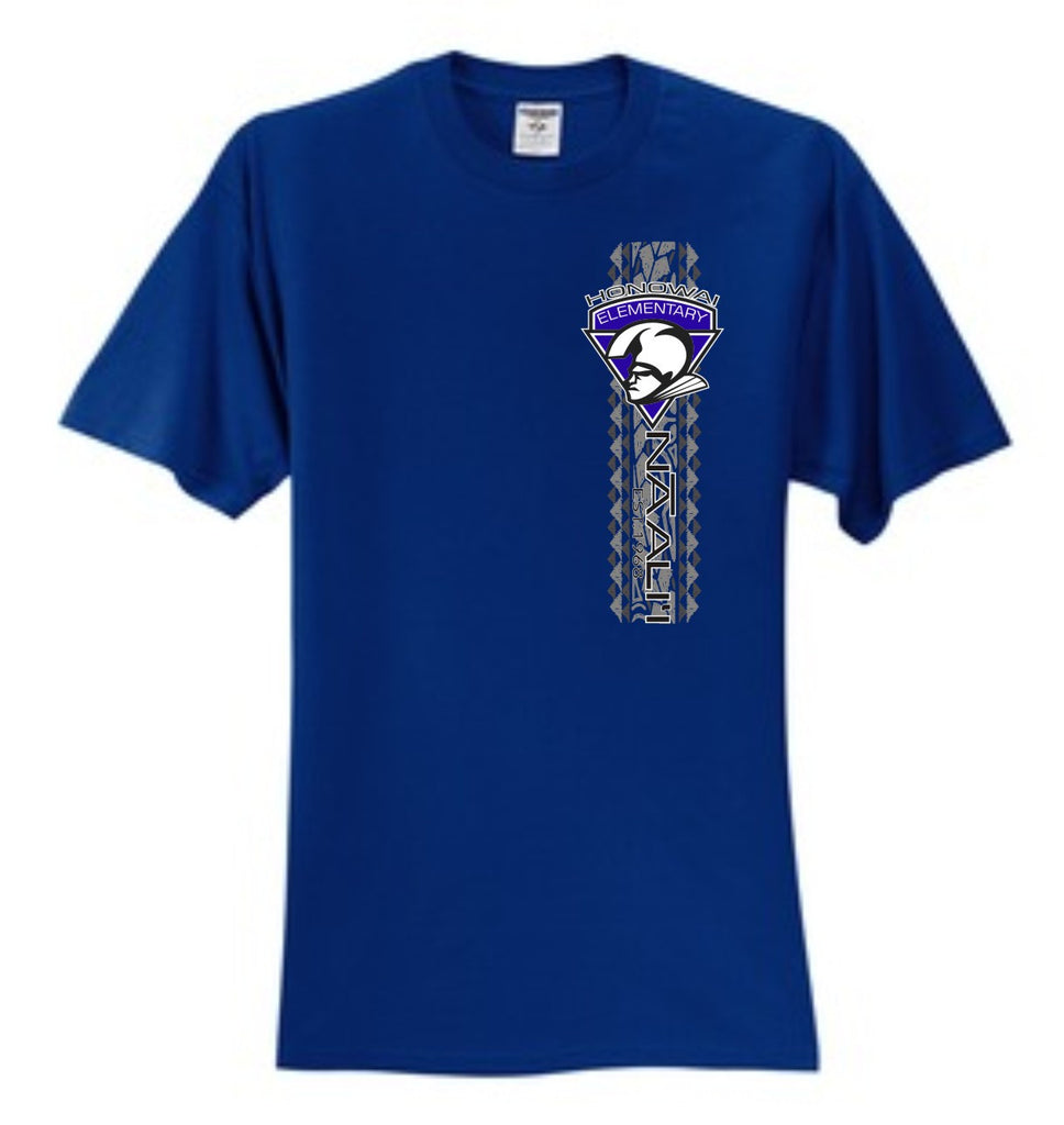 Honowai Elementary Unisex Uniform - Royal Blue - Short Sleeve