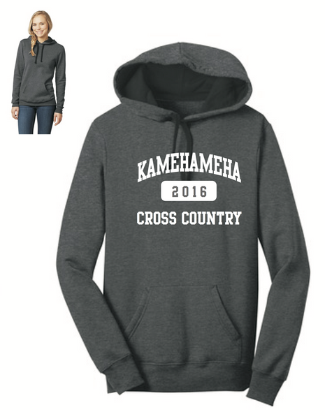 Kamehameha Cross Country - District® - Juniors Concert Fleece™ Hoodie - Charcoal Heather (DT811)