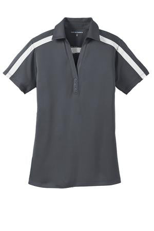 Port Ladies Silk Touch Performance Colorblock Stripe Polo - L547