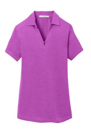 New! Port Authority® Ladies Digi Heather Performance Polo. L574