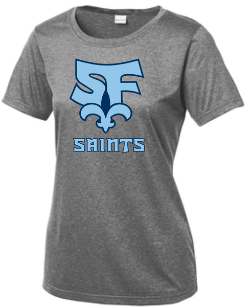 Saint Francis School - Sport-Tek® Ladies Heather Contender™ Scoop Neck Tee LST360
