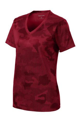 Kula Kaiapuni Staff ***NEW Sport-Tek Ladies CamoHex V-Neck Tee - (LST370)