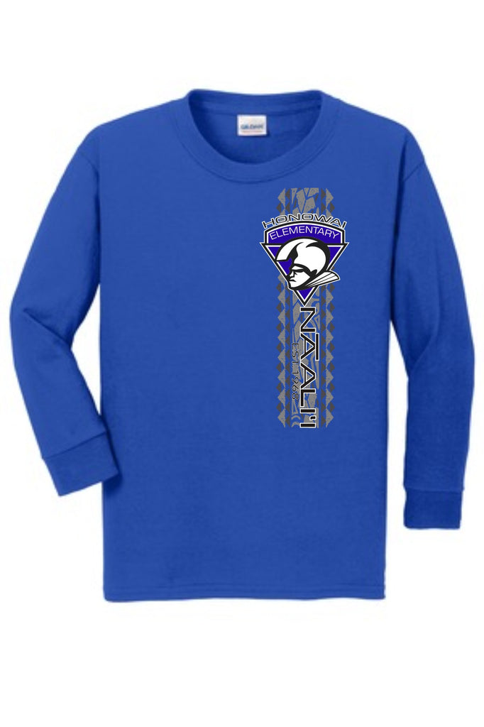 Honowai Elementary Unisex - Long Sleeve - Royal Blue