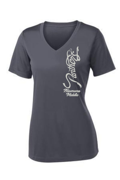 Aliamanu Middle Staff - Ladies PosiCharge V-Neck Tee (LST353)