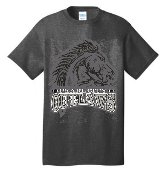 Pearl City Outlaws - Core Cotton Tee - Charcoal Heather
